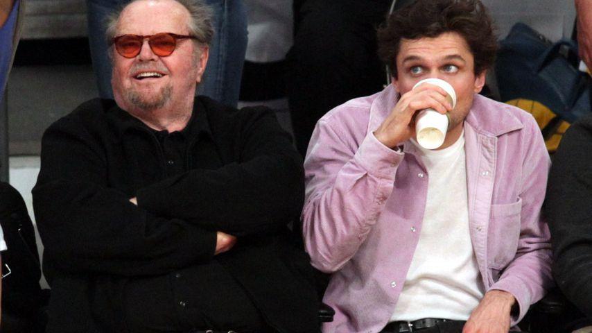 Jack Nicholson und Sohn Ray im Staples Center in Los Angeles