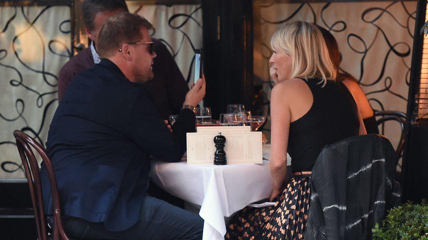 James und Julia Corden in London