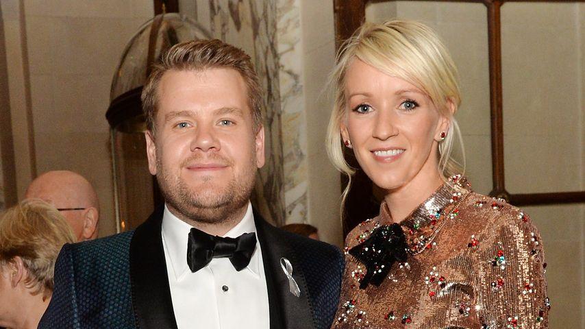 James Corden mit seiner Frau Julia Carey