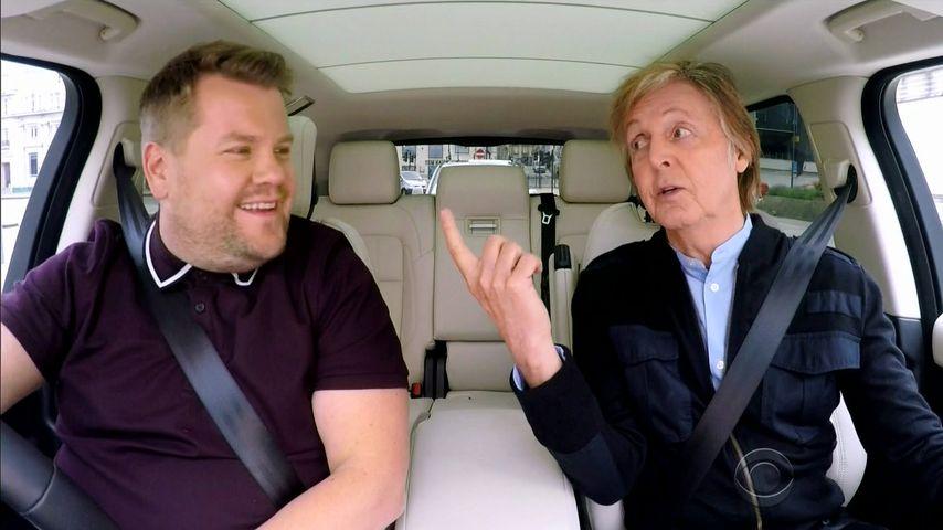"""James Corden und Paul McCartney bei """"Carpool-Karaoke"""""""
