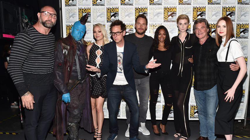 """James Gunn und der Cast von """"Guardians of the Galaxy"""""""