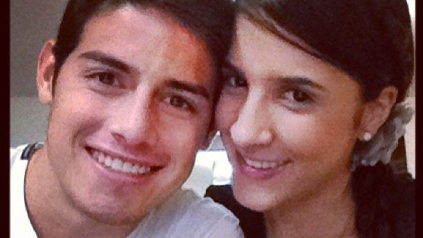 James Rodríguez und Daniela Ospina 2013