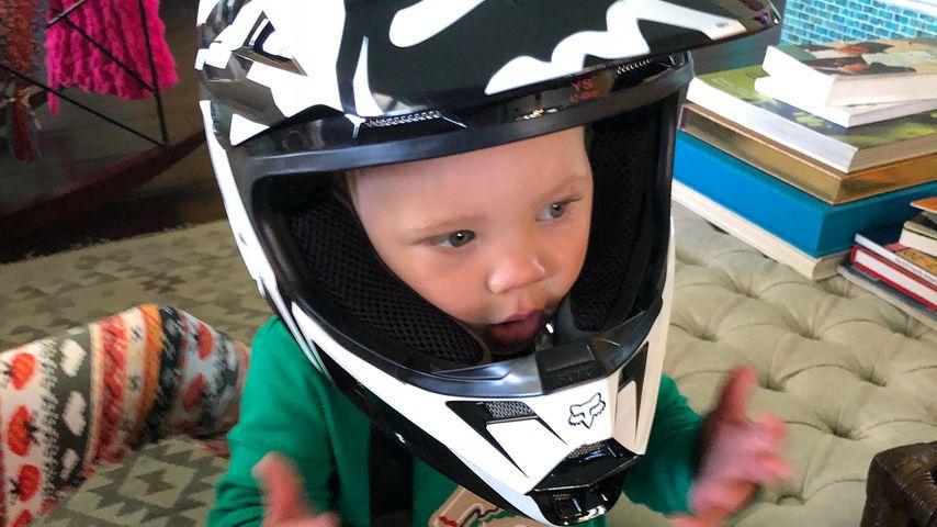 Ganz wie Papa: Pink und Careys Sohn will auch Biker werden