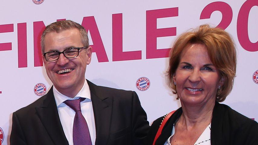 Jan-Christian Dreesen mit seiner Frau in Berlin 2016