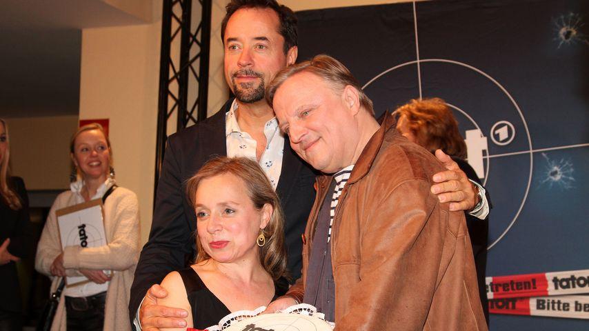 Jan Josef Liefers, Axel Prahl und Christine Urspruch