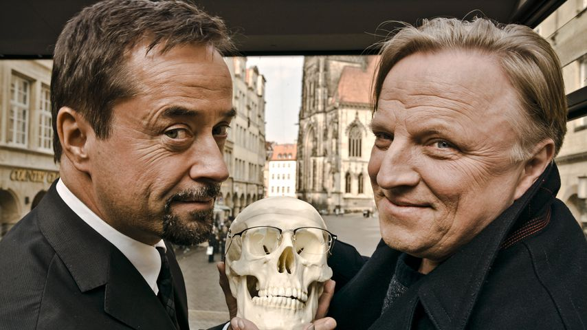 Jan Josel Liefers und Axel Prahl beim Tatort Münster