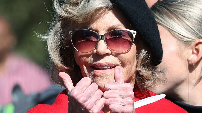 Zum vierten Mal: Jane Fonda wegen Klima-Protest verhaftet