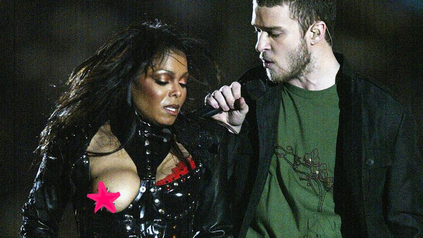 Collage: Janet Jackson und Justin Timberlake beim Nippelgate