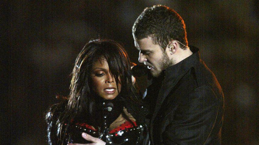 Janet Jackson und Justin Timberlake bei ihrer Performance beim Super Bowl 2004
