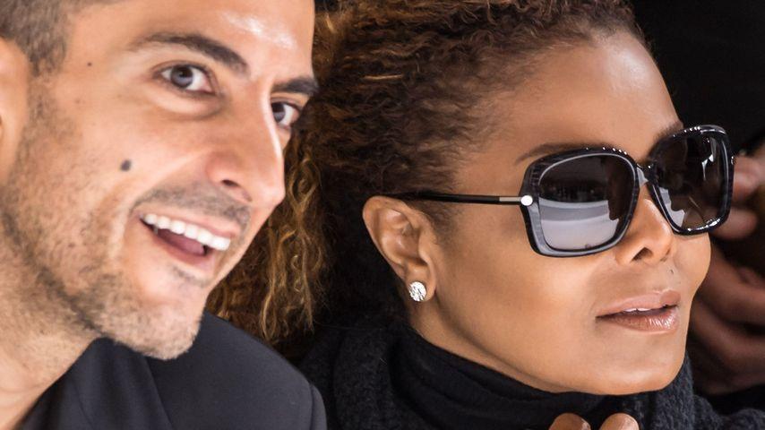 Seltener Auftritt: Janet Jackson turtelt mit ihrem Ehemann