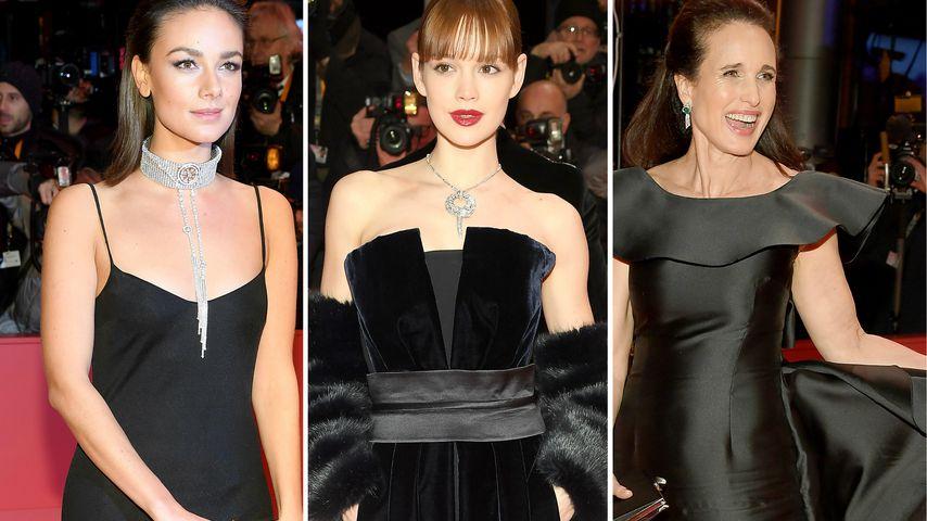 Janina Uhse, Emilia Schüle und Andie MacDowell auf der Berlinale 2019