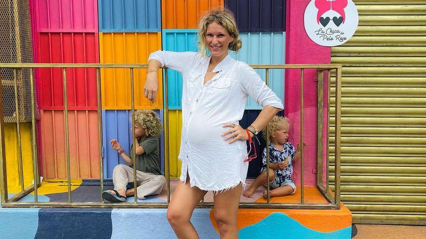 Janni Kusmagk mit ihren Kids Emil-Ocean und Yoko