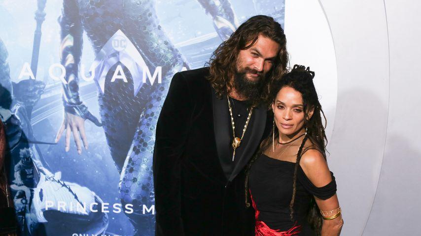 Kuss-Alarm! Jason Momoa & Frau verturtelt auf Red Carpet