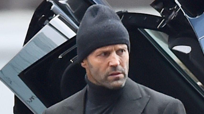Jason Statham am Filmset in London