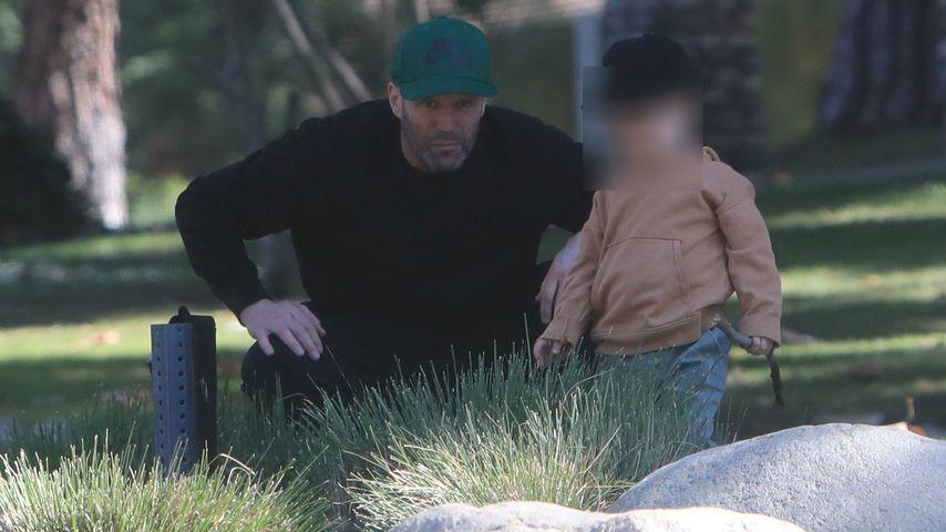 Jason Statham mit seinem Sohn im Februar 2020