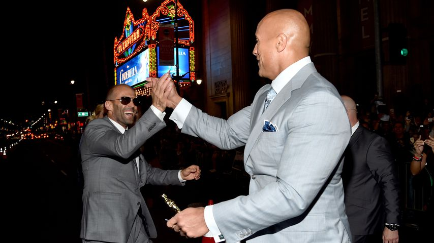 "Jason Statham und Dwayne ""The Rock"" Johnson, Schauspielkollegen"