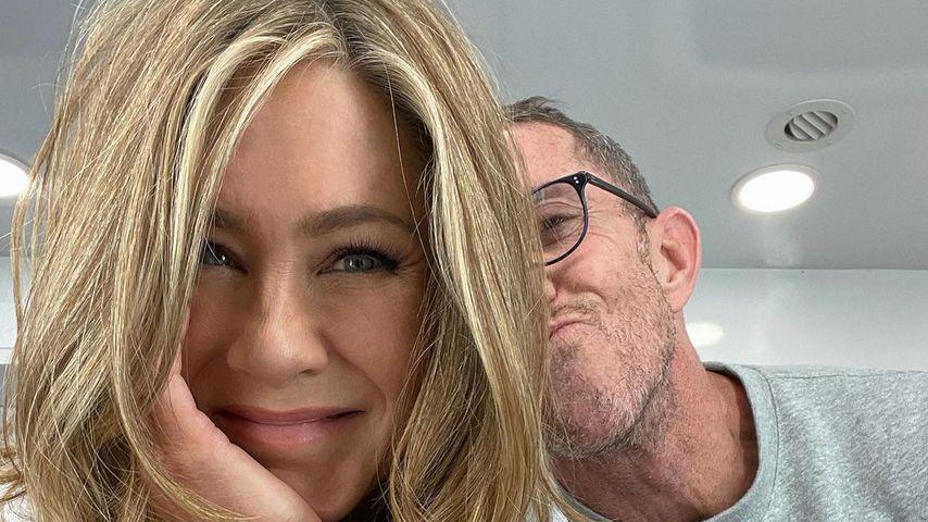 Jennifer Aniston und Hairstylist Chris McMillan, Januar 2021