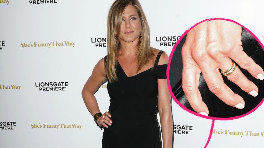Gold & Diamanten: Jennifer Aniston zeigt ihren Ehering