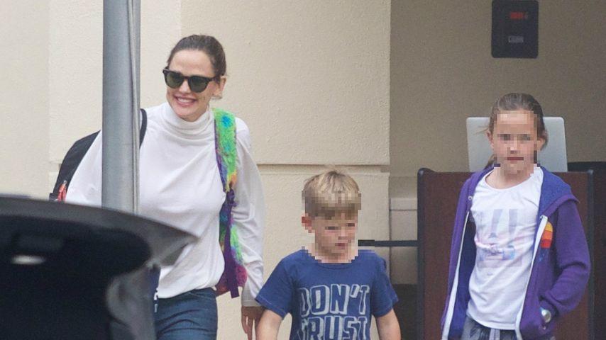 Jennifer Garner mit ihren Kids Samuel und Seraphina, Oktober 2018