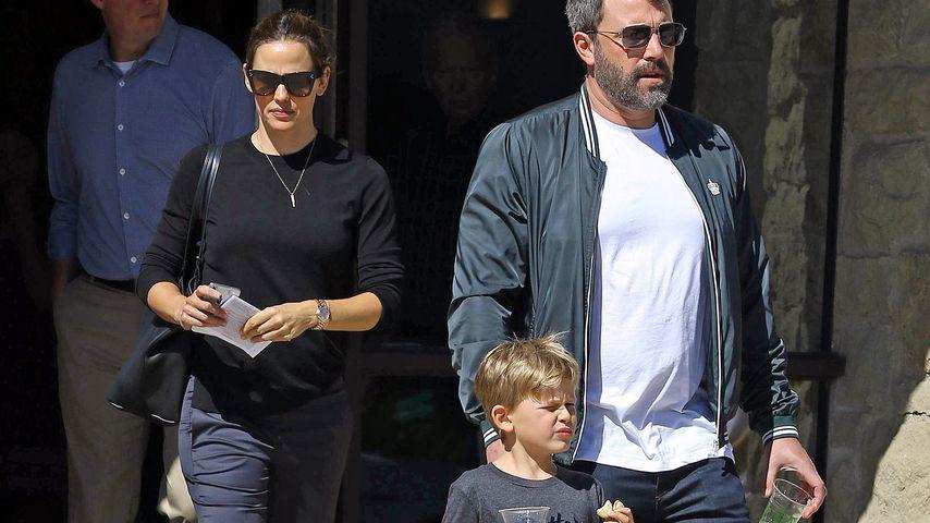 Jennifer Garner, Samuel und Ben Affleck im September 2018