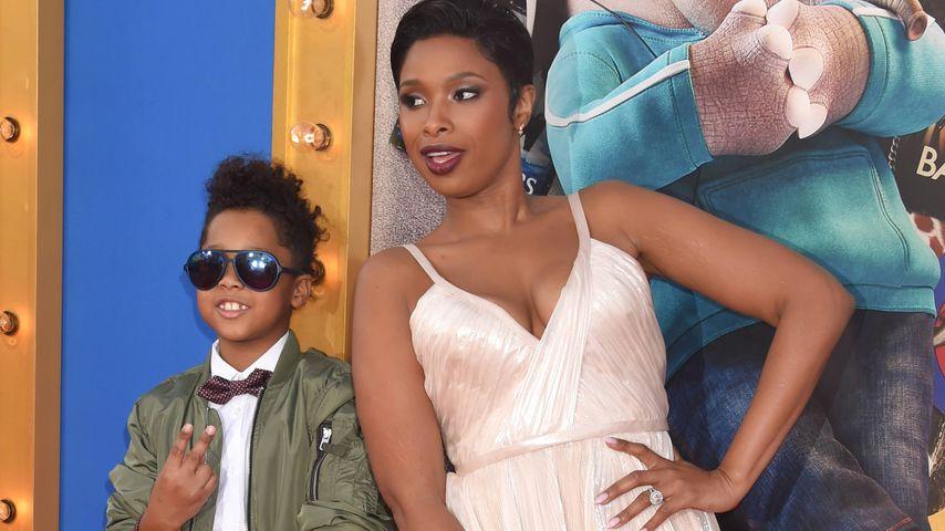 Jennifer Hudson mit ihrem Sohn auf einer Filmpremiere in Los Angeles