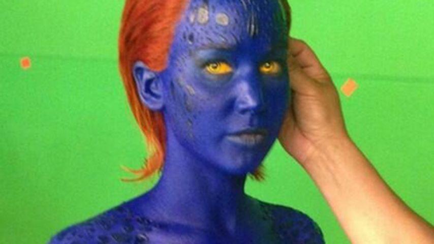 Blaues Wunder! Jennifer Lawrence wird zu Mystique