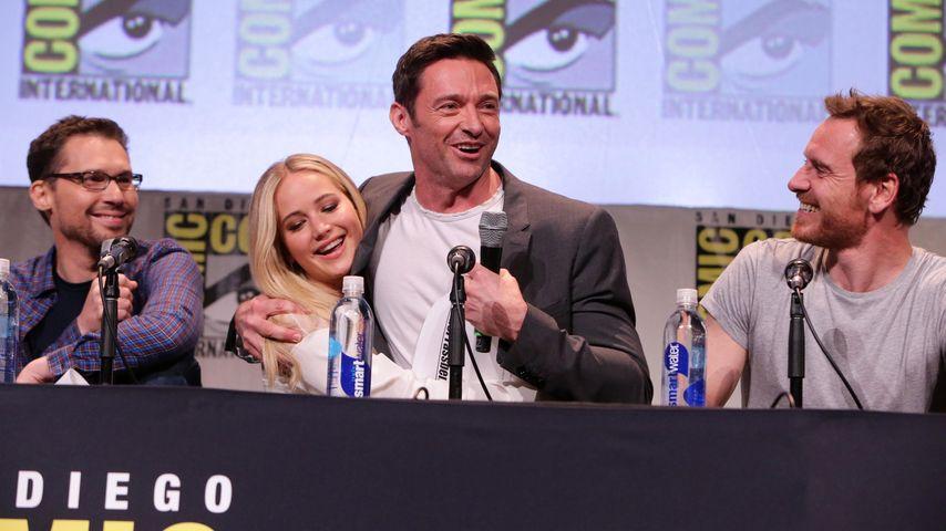 Hugh Jackman, Jennifer Lawrence und Michael Fassbender
