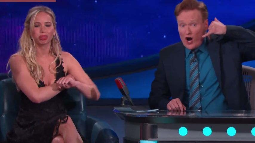 Jennifer Lawrence und Conan O'Brien