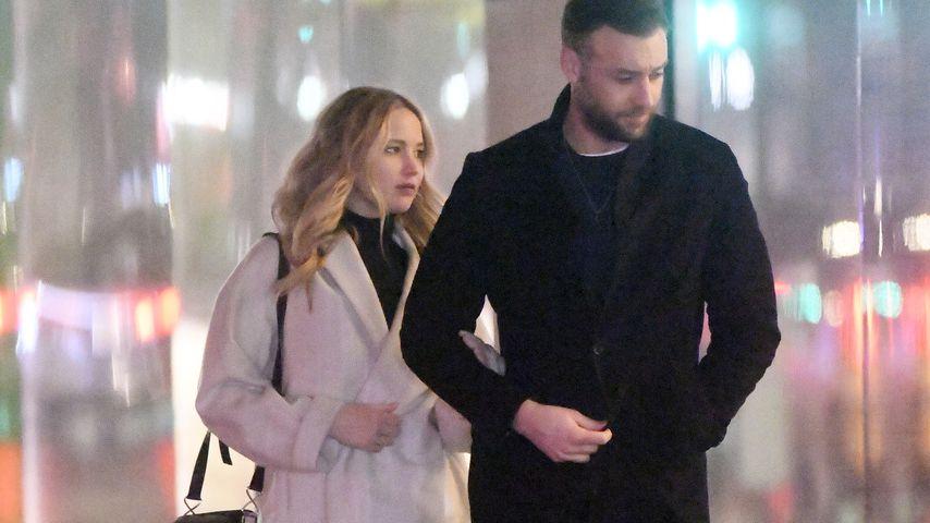 Jennifer Lawrence und ihr Mann Cooke Maroney im Februar 2019
