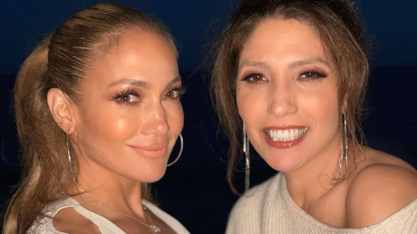 Jennifer Lopez mit ihrer Schwester Lynda