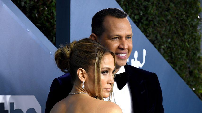 Jennifer Lopez und Alex Rodriguez im Januar 2020 in Los Angeles