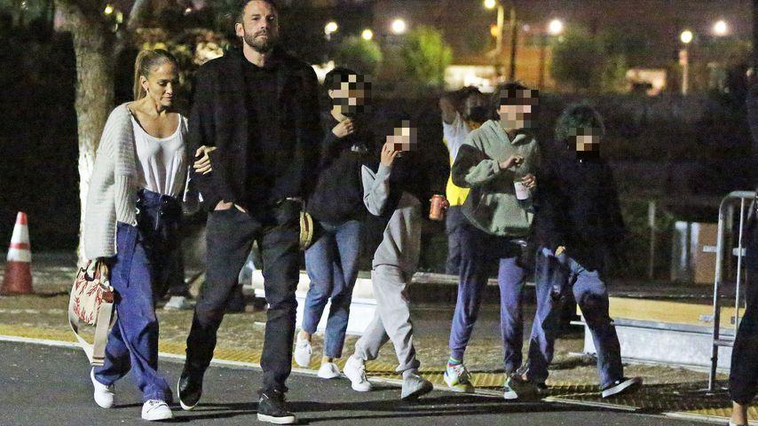 Jennifer Lopez und ihre Kinder mit Ben Affleck, September 2021