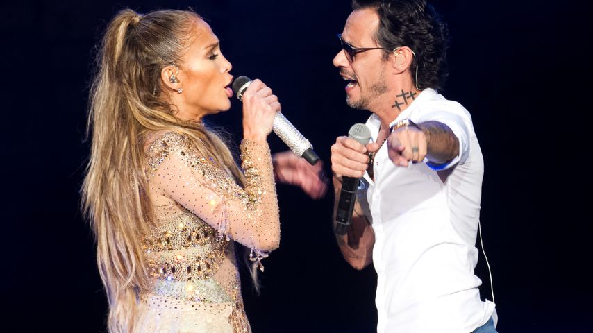 J.Lo und Marc Anthony bei ihrem Auftritt in der Karibik