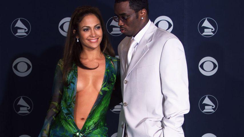 Jennifer Lopez und P. Diddy bei den Grammys im Februar 2000