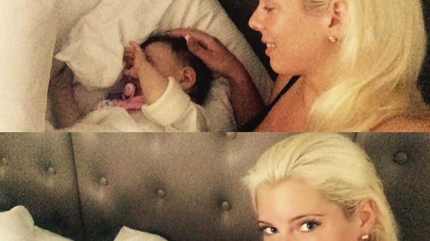 Jenny Frankhauser mit ihrer Nichte Sophia