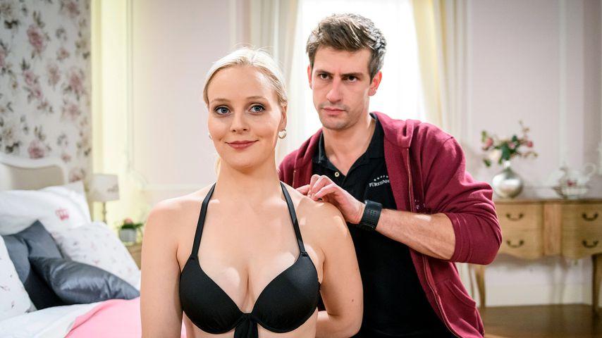 "Jenny Löffler und Sandro Kirtzel, ""Sturm der Liebe""-Darsteller"