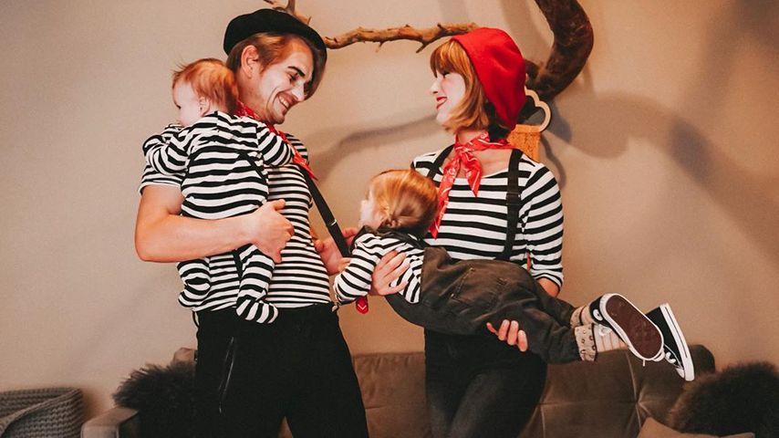 Jens Ackermann und Isabell Horn mit ihren Kindern