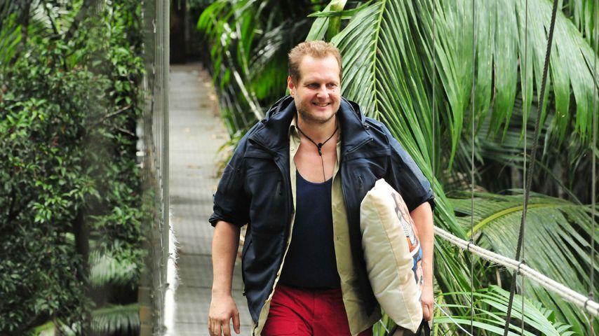 Jens Büchner bei seinem Auszug aus dem Dschungelcamp, Januar 2017