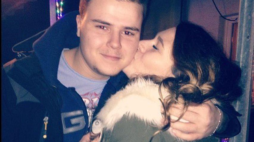 Jeremy-Pascal Wollny mit seiner Freundin Sophie, Januar 2018