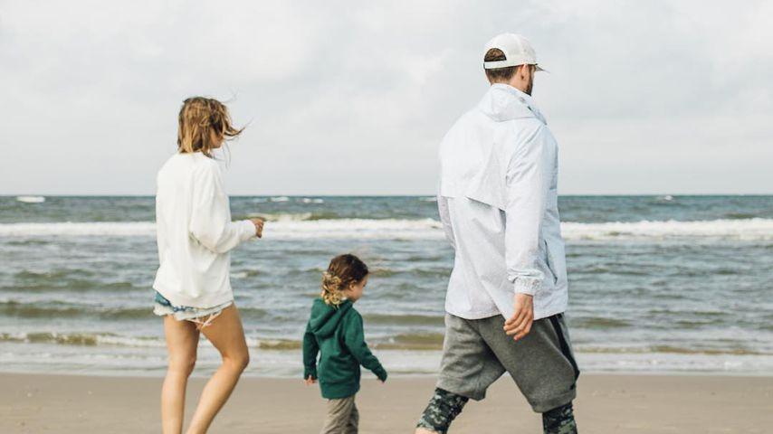 Jessica Biel mit ihrem Sohn Silas und Ehemann Justin Timberlake