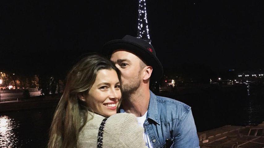 Jessica Biel und Justin Timberlake in Paris, Juli 2018