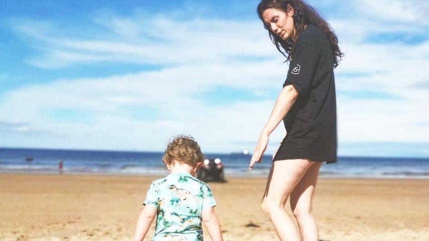 Jessica Cunningham mit ihrem Sohn
