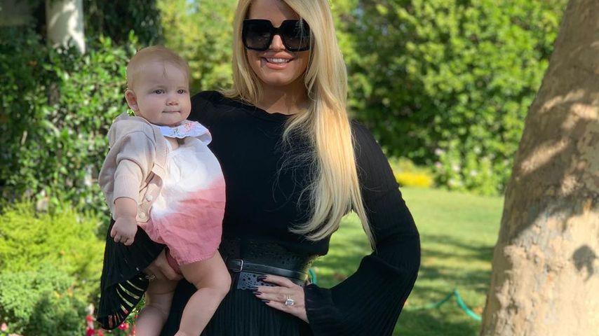 Jessica Simpon und ihre Tochter Birdie
