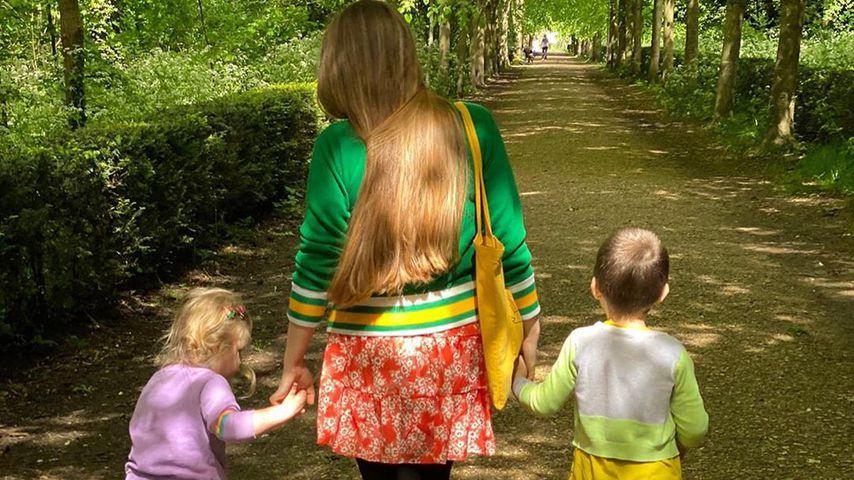 Jessie Cave und ihre Kinder im Jahr 2020