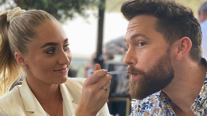 Jil Rock und ihr Freund Oliver Sanne im Juni 2020
