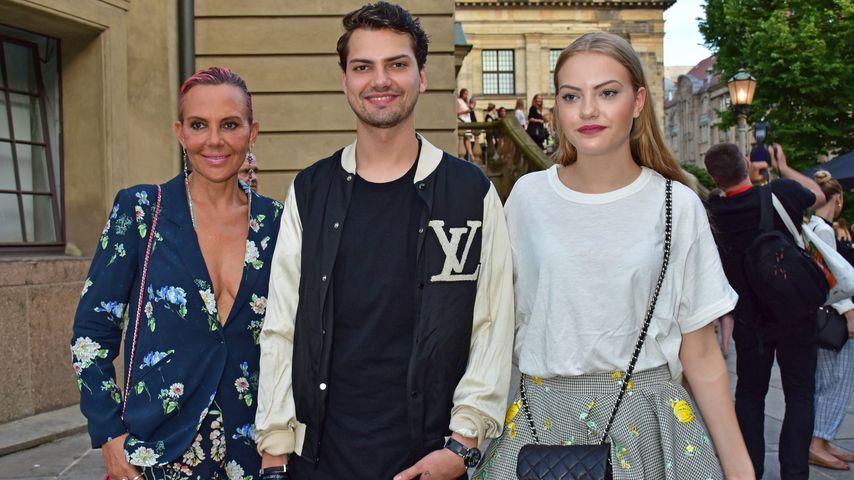 """Natascha Ochsenknecht, Jimi Blue und Cheyenne Ochsenknecht bei der """"Mercedes Benz Fashion Week"""""""