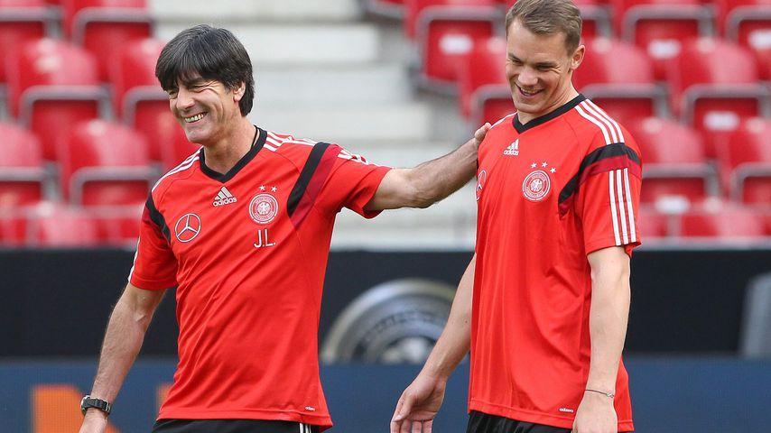 Joachim Löw und Manuel Neuer im Juni 2014 in Mainz