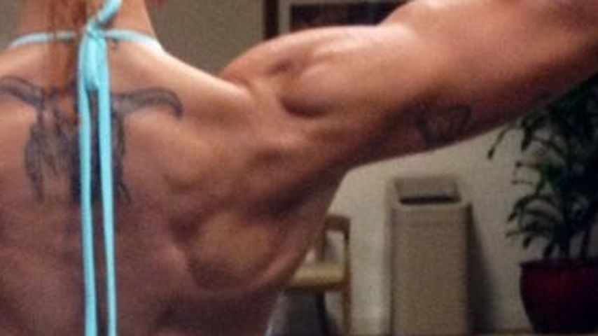 Krass: Jodie Marshs extremer Muskel-Rücken
