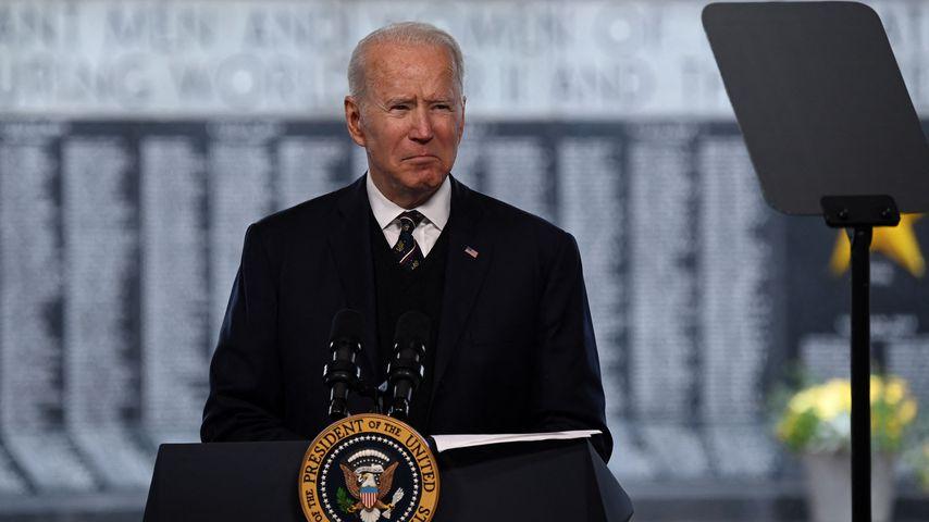 Joe Biden am 30. Mai 2021 im Veterans Memorial Park