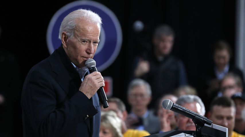 Joe Biden im Januar 2020 in Iowa